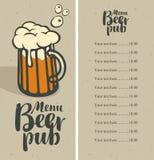 Beer pub menu Royalty Free Stock Photography