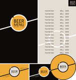 Beer pub menu Royalty Free Stock Photos