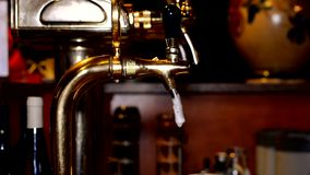 Beer in the pub. Beer in the night pub stock video footage