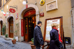 Beer pub in Rome Royalty Free Stock Image