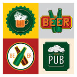 Beer pub signs Royalty Free Stock Photography