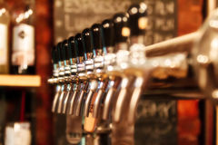 Beer Pump. Inside a pub royalty free stock photography