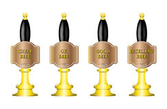 4 Beer Pumps Royalty Free Stock Photography
