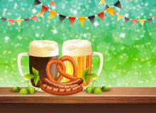 Beer Realistic Illustration Stock Photos