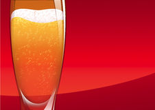 Beer on red Royalty Free Stock Photos