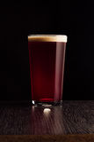 The beer red ale. The dark background Royalty Free Stock Images