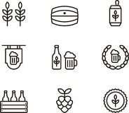 Beer related icons Royalty Free Stock Images