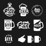 Beer related typography set. Vector vintage lettering illustration. Royalty Free Stock Image