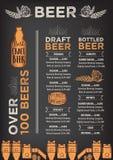 Beer restaurant cafe menu, template design. Royalty Free Stock Photos