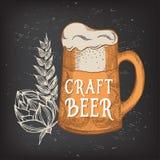 Beer restaurant cafe menu, template design. Stock Photos