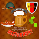 Beer Restaurant menu Royalty Free Stock Images