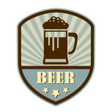 Beer retro label. Beer retro style vector label Royalty Free Stock Images