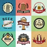 Beer retro labels Royalty Free Stock Image
