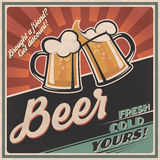 Beer retro poster Royalty Free Stock Images