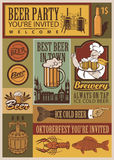 Beer retro set Royalty Free Stock Images