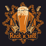Beer and Rock music Stock Photos