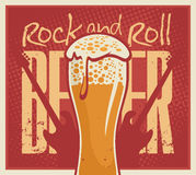 Beer Rock and roll Royalty Free Stock Images