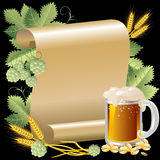 Beer and roll Royalty Free Stock Photos