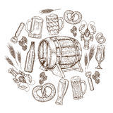 Beer round template Stock Photography