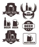 Beer rubber stamp. Isolated beer on white background. EPS 10. Vector illustration vector illustration
