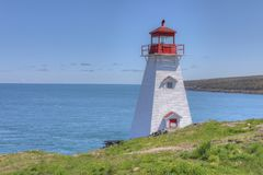 Beer` s Hoofdvuurtoren in Nova Scotia royalty-vrije stock foto
