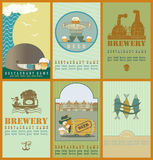 Beer's  labels  with oak barrel Stock Photography