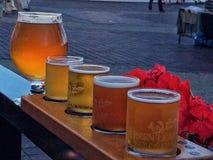 Beer sampler Stock Photo
