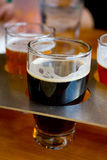 Beer Samplers at Brewery Royalty Free Stock Images