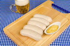 Beer and sausages Royalty Free Stock Photos