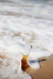 Beer in the sea Royalty Free Stock Image