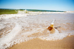 Beer in the sea Stock Image