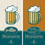 Beer and seafood Stock Photography
