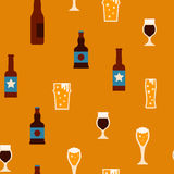 Beer seamless background Royalty Free Stock Photography