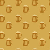 Beer seamless background Royalty Free Stock Photos