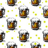 Beer seamless pattern Stock Image