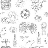 Beer Seamless Pattern.Vector illustration Stock Images