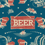 Beer seamless pattern Royalty Free Stock Photo