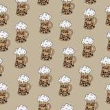 Beer seamless texture, beer background, beer wallpaper. Vector illustration Stock Image