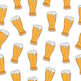 Beer seamless texture, beer background, beer wallpaper. Vector illustration Royalty Free Stock Images