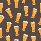 Beer seamless texture, beer background, beer wallpaper. Vector illustration Royalty Free Stock Photo