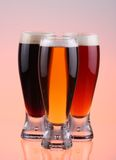 Beer selection. Close-up of beer glass royalty free stock image