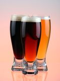 Beer selection. Close-up of beer glass royalty free stock photography