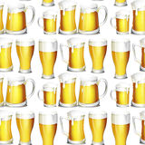 Beer. Serve in different containers vector illustration