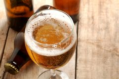 Beer served fesh in glass for drink Royalty Free Stock Image