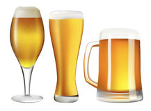 Beer set Stock Photography