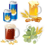 Beer set Royalty Free Stock Images