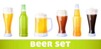 Beer set Royalty Free Stock Photo