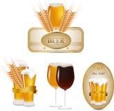 Beer set. This is vector beer set Stock Photos