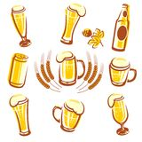 Beer Set. This is file of EPS8 format Stock Image