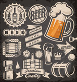 Beer. Set of beer emblems, symbols, badges, signs, icons and design elements